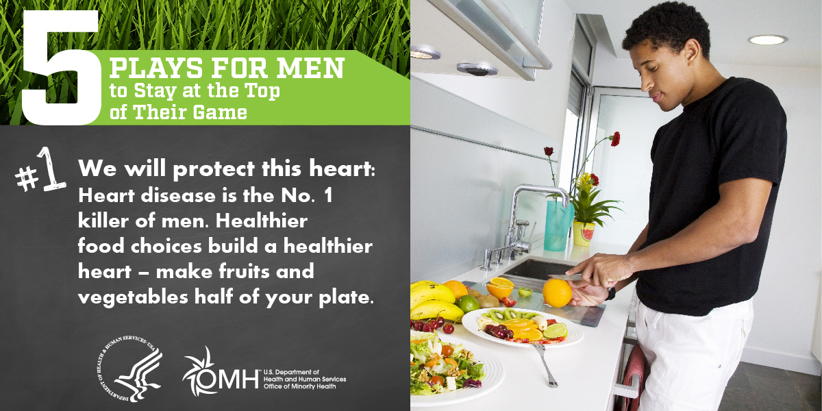June is #MensHealthMonth! This month check out @MinorityHealth's Five Plays for Men's Health highlighting the importance of heart health, daily exercise, regular check-ups, smoking dangers and mental health. https://t.co/m1KRWFCvvn https://t.co/YE0smTmOzZ