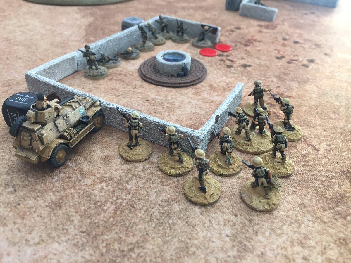 Combate a muerte en las ardientes arenas del desierto occidental. Partida a escala 15mm de Bolt Action  en el @ClubSemper #boltaction #warlordgames #wargame https://t.co/lciptT2A8p