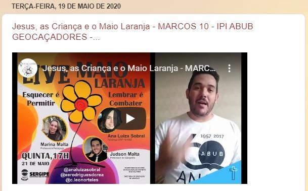 MAIO LARANJA LIVE - COMBATE AO ABUSO SEXUAL INFANTIL - Leonor, Rodrigues, Ana Luiza  Link da nossa LIVE COMPLATE!!!  https://mla.bs/73eb2edd   #seduc #seed #eerd80anos #eerd #sergipe #aracaju  #maiolaranja #abusosexual #exploraçãosexual #maio #laranja #abusosexualinfantilpic.twitter.com/dmv95WZAqG