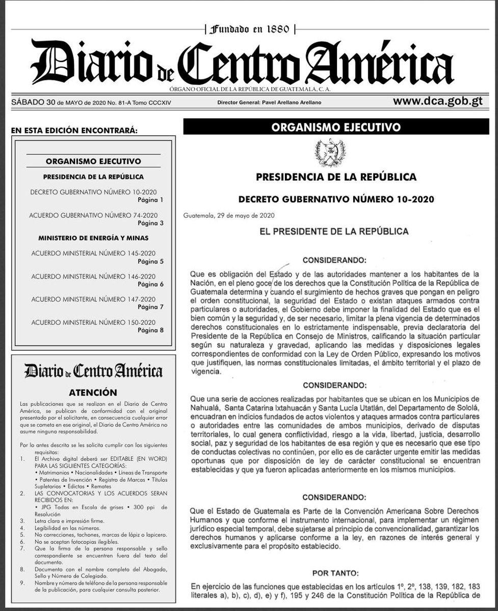 test Twitter Media - Presidencia anuncia Estado de Sitio en Nahualá, Santa Catarina Ixtahuacán y Santa Lucía Utatlán, los tres municipios del departamento de Sololá, derivado de los enfrentamientos territoriales en la comunidad. https://t.co/vbIwsNwx0i