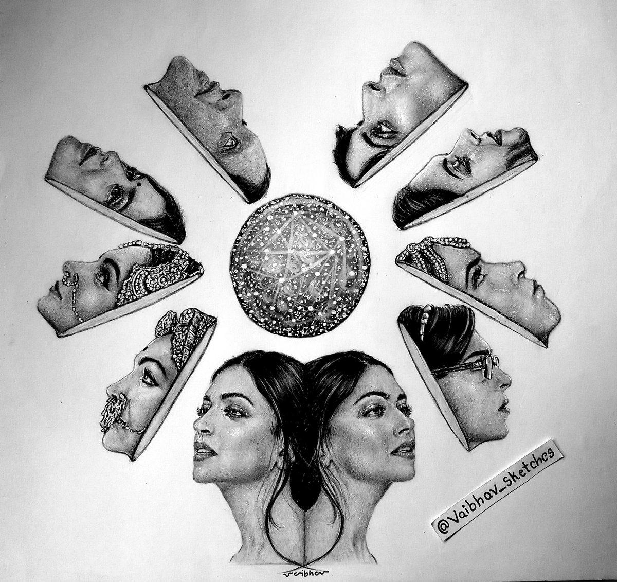 A Real life role and many Reel Life roles - Deepika Padukone  From Piku to Romi Bhatia !! Artwork by me#DeepikaPadukone #RomiBhatia #Malti #Padmavati #Mastani #Leela #Meenamma #Naina #Piku #pencilart pic.twitter.com/ITW3Q4HjdD