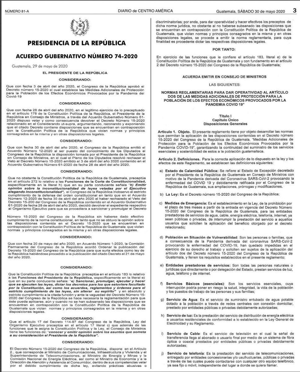 test Twitter Media - En el Diario Oficial se publicaron las normas reglamentarias para dar operatividad al artículo dos de las medidas adicionales de protección a la población de los efectos económicos provocadas por la pandemia del Covid-19. https://t.co/UsDXgcse7m