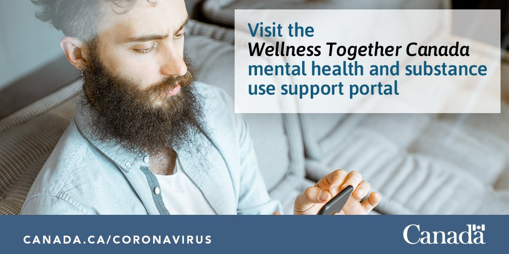 Are you facing #mentalhealth challenges because of #COVID19? Are you worried about your substance use? Visit the Wellness Together Canada portal for support at your fingertips. http://ow.ly/BrS450zsbBhpic.twitter.com/vRCC9930mP