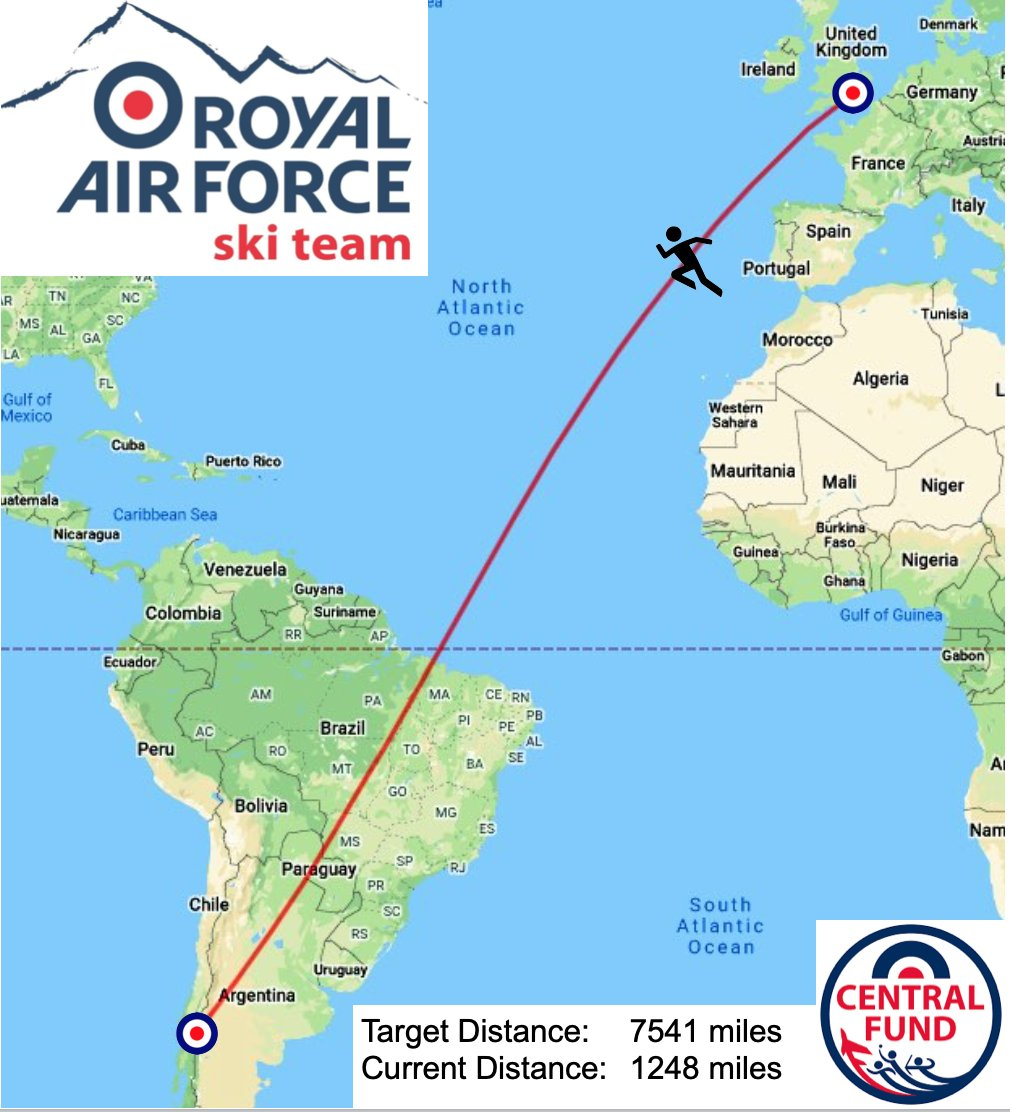 After just over a week we have made great progress on our #chilechallenge #noordinaryjob @rafwintersport @HQRAFSport Please donate at to the @RAFCentralFund at: https://t.co/QUoG5IA6JD https://t.co/9iaJ6NOUA6