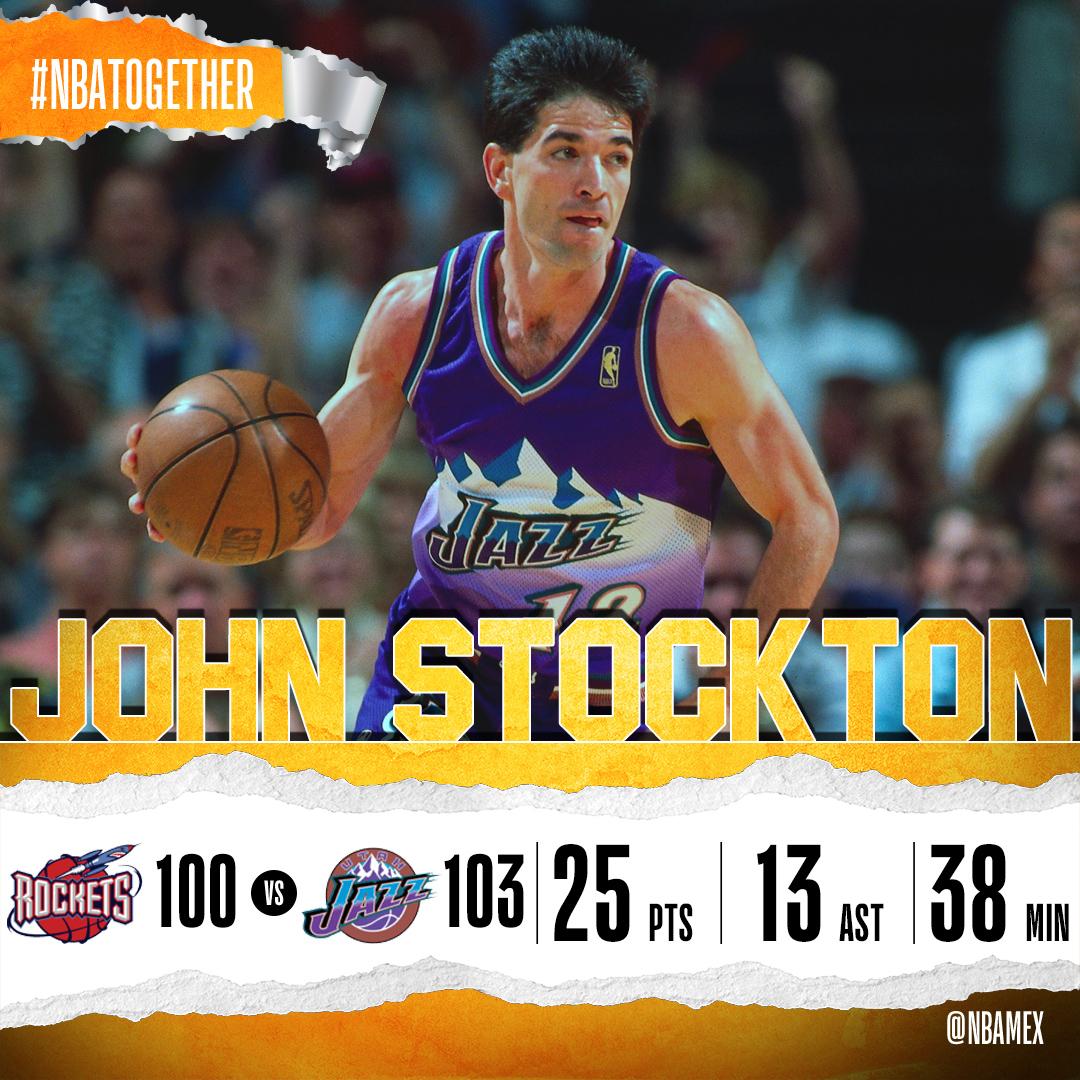 MEMORIAS John Stockton ponía el punto final de una serie emocionante entre @utahjazz y @HoustonRockets en los #NBAPlayoffs de 1997. @NBAMEX https://t.co/O6Fe1oEU2d