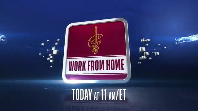 "The grind don't stop 😤  Watch ""Work From Home: Cleveland Cavaliers"" today at 11AM ET and 2PM ET on @NBATV! https://t.co/6DfI8b6U7b"