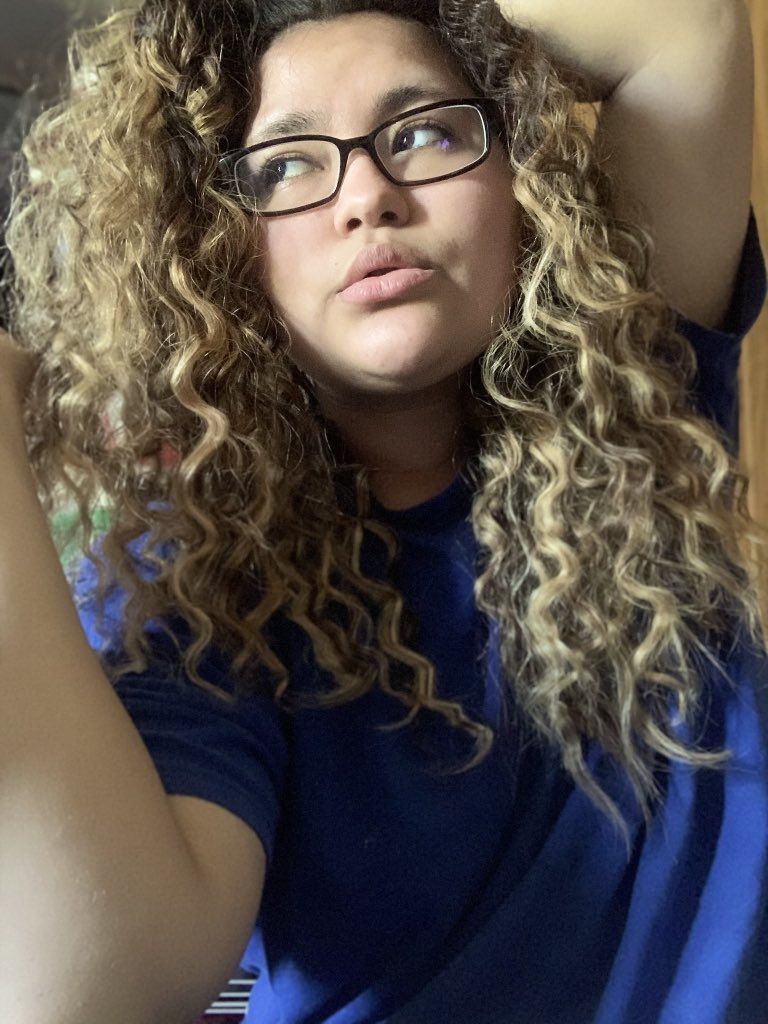 this is who I am, nobody said you had to like it. 💙 — #curlyhair #blue #aesthetic