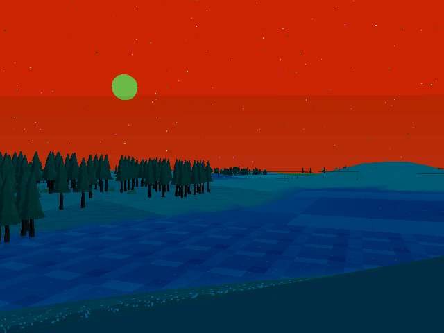 Trying to get more trees in a smaller space.  #screenshotsaturday #red #blue #procgen #lowpoly #wii
