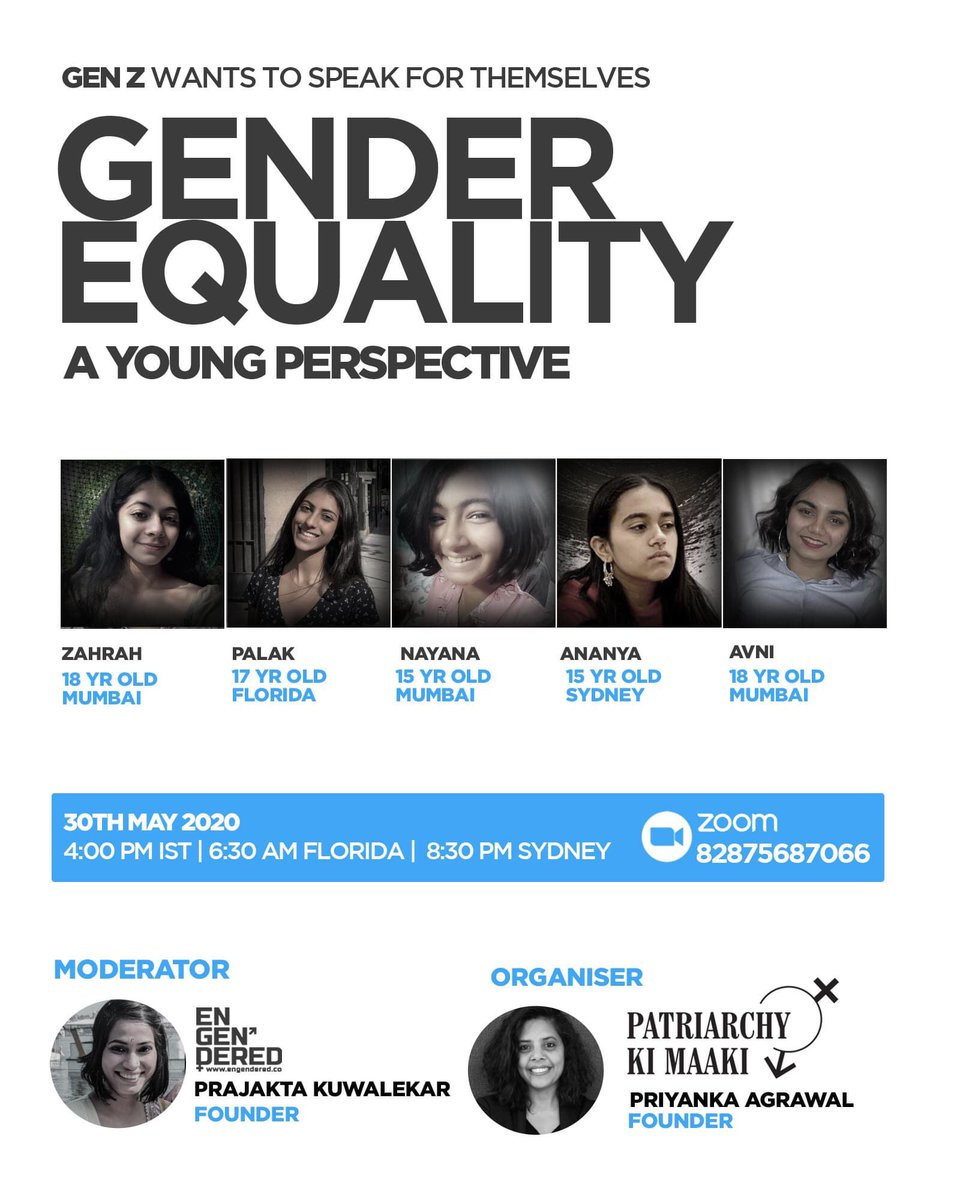 @nktgill I attended this via Zoom today and the brilliant panel of young women (from India, US & Australia) were quick to point out that recognising your particular privileges has to be the first step...it's frustrating that those with many more privileges often don't do this
