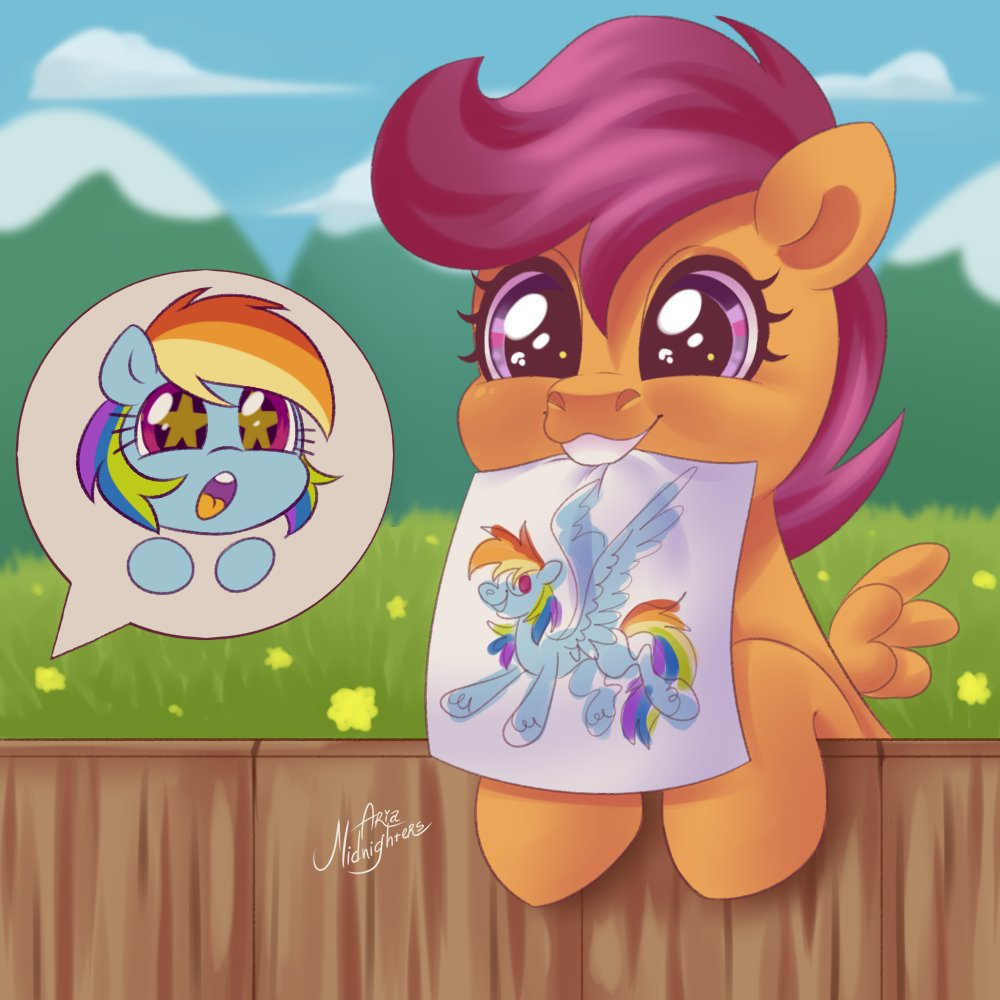 Scootaloo Twitter Search I was impressed with twilight flying from canterlot to ponyville but damn, scootaloo managed to go further. scootaloo twitter search