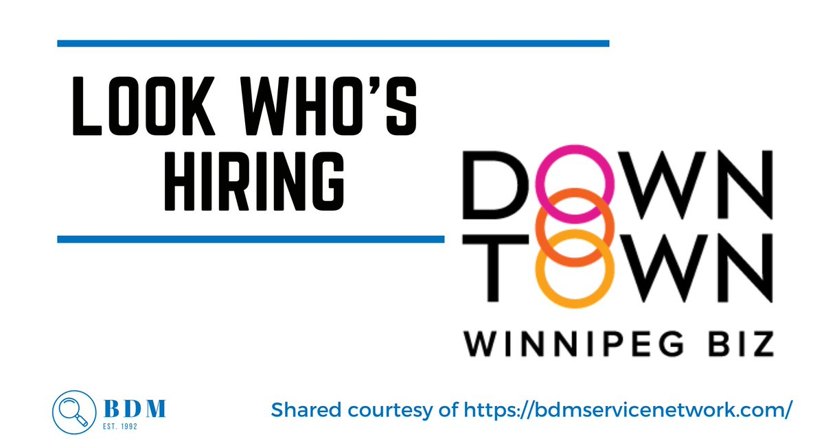 Downtown Watch Ambassador in #Winnipeg, #Manitoba. Apply here https://t.co/RkNBYW5w45  shared by BDM Service Network https://t.co/3dMPkgYMuD #cfmjobs #winnipegjobs #manitobajobs #hiring #nowhiring #hiringnow #job #jobs #jobopportunity #jobopening #careers https://t.co/CCNefAQuyv