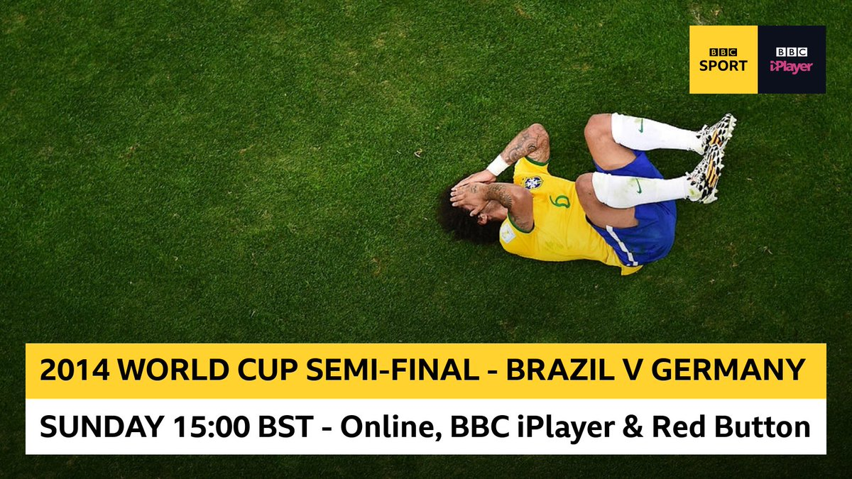Relive THAT unforgettable 2014 World Cup clash between Brazil and Germany with us on Sunday... Watch from 15:00 BST on the BBC Sport website, @BBCiPlayer and Red Button!
