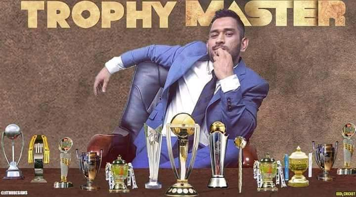 Master of trophies #DhoniFanForever<br>http://pic.twitter.com/nQHcW9g5n9