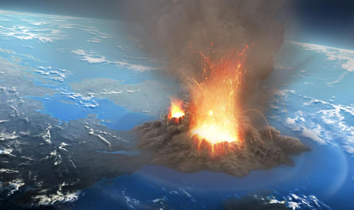 The supervolcano that can wipe out the U.S. and kill billions may be overdue for an eruption. Great. https://t.co/ZFDoIEek4r https://t.co/rc6FVXlZZN