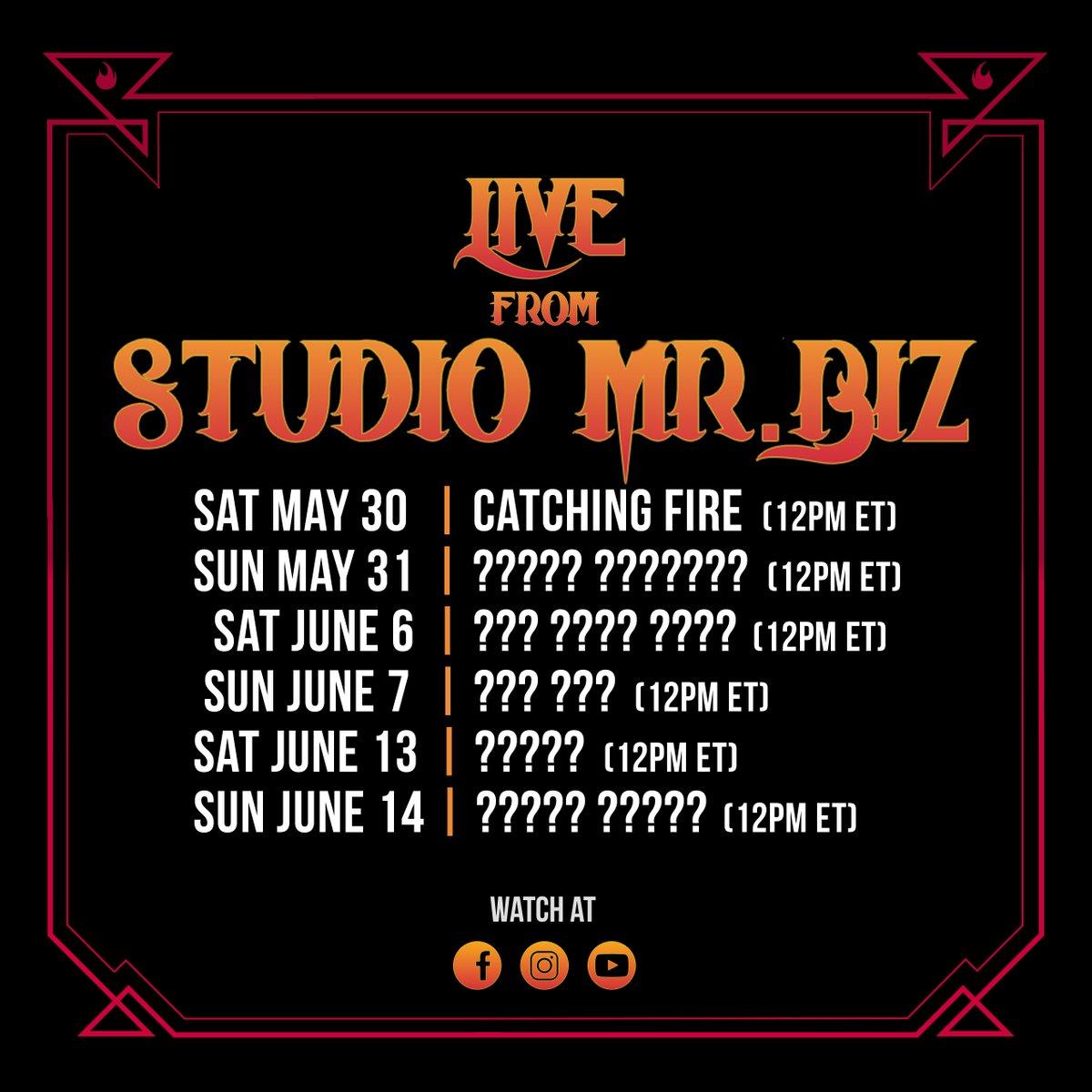 Live from Studio Mr. Biz   Upcoming Events https://t.co/efd2ICvOrg