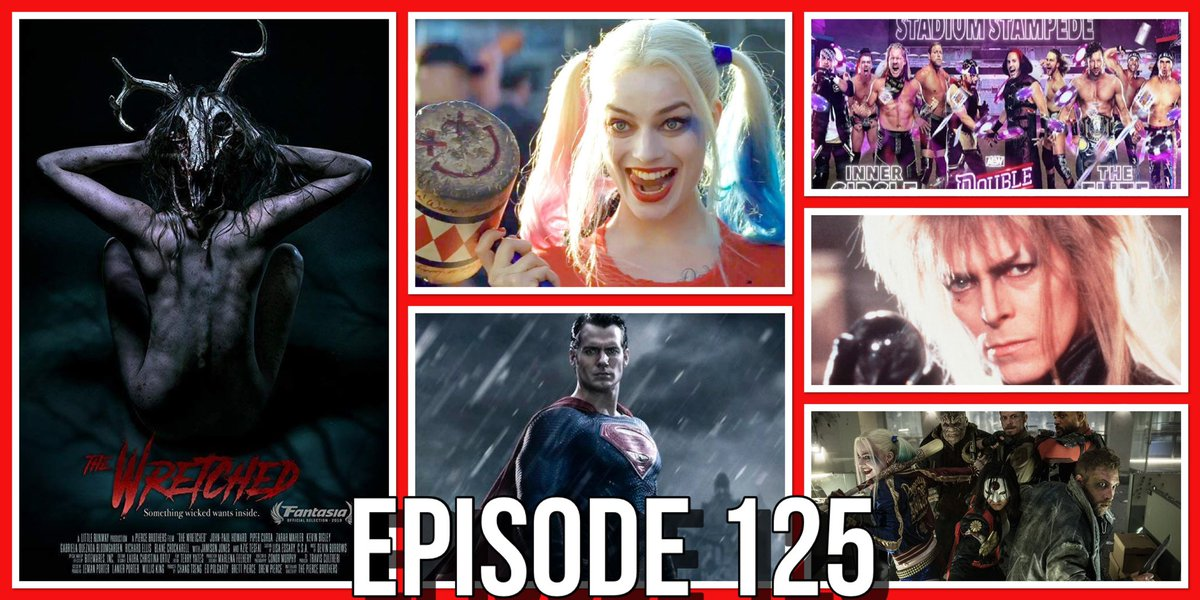 New! Ep 125! This week we're reviewing #TheWretched & #AEWDoubleorNothing! Plus #HenryCavill coming back as #Superman? Another #HarleyQuinn movie in the works? Plus #labyrinth gets a sequel! #PodernFamily #horror #dc  Podbean:https://t.co/sPJxg9TW2J ITunes:https://t.co/0GYVItBWKl https://t.co/IVnTltetzZ