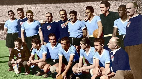 The #Uruguay squad at the 1950 FIFA #WorldCup.pic.twitter.com/btg59CYrf7