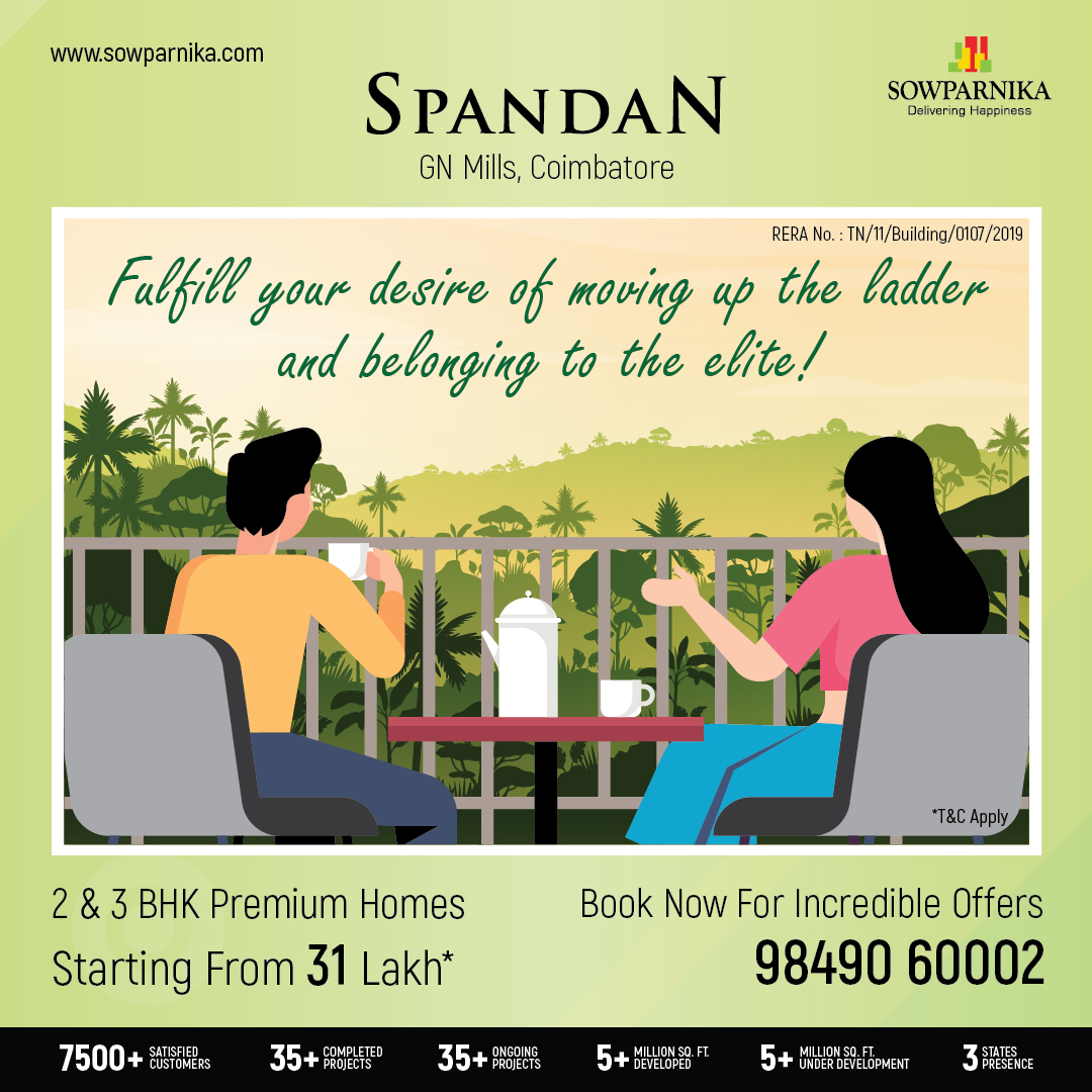 #Premium yet #Affordable - Perfect to describe #Spandan by #SowparnikaProjects Call us @7849060002 to book a site visit  #Coimbatore #RealEstate #Property #Apartment #DreamHomes #DeliveringHappinesspic.twitter.com/33uVsIjVG1