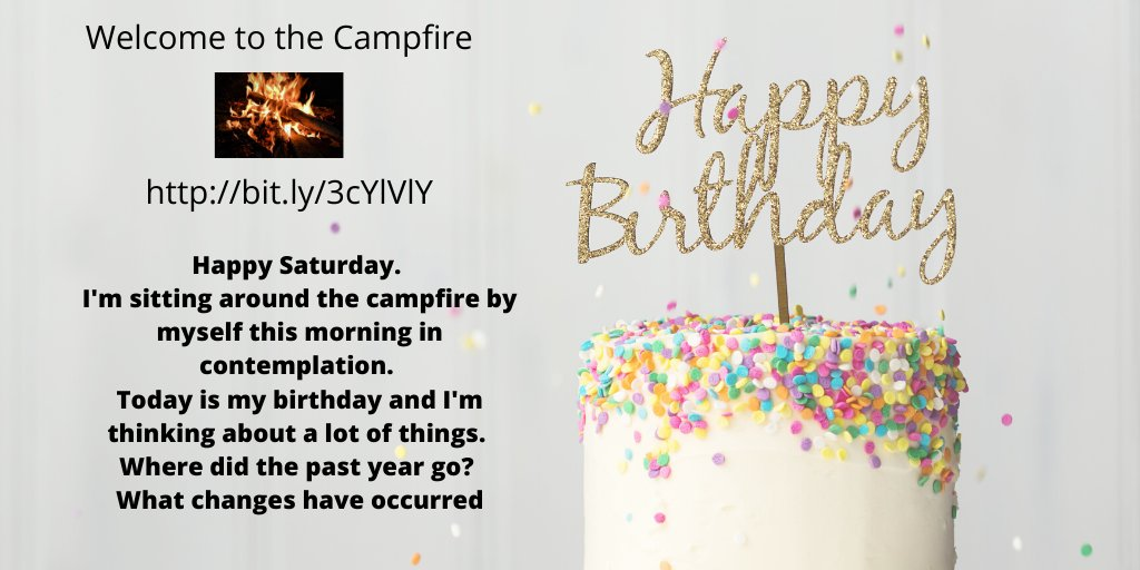 Join me at the #campfire and share a virtual piece of #birthdaycake. I'm tossing #hints to what year I was #born  #Saturdayvibes #reading #writing #blogging #wrpbks #birthdaypic.twitter.com/B0nnL8uTH7