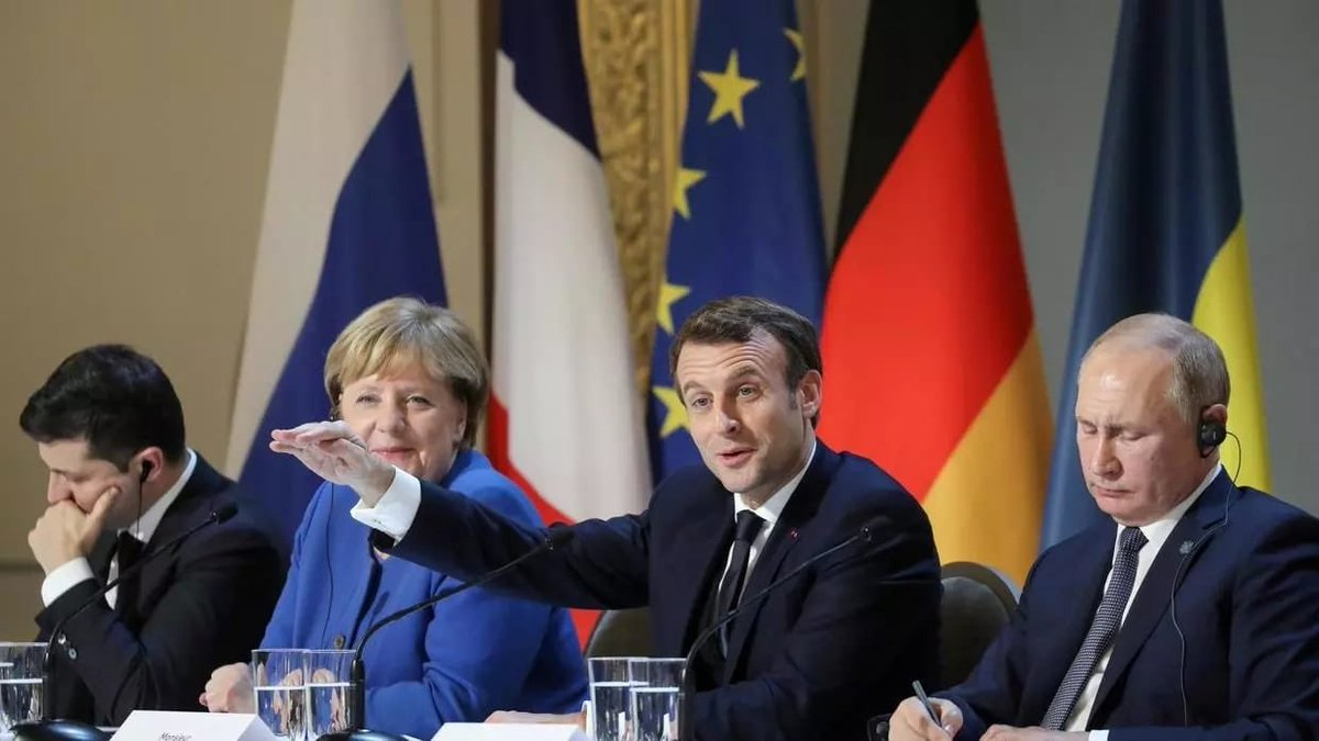 #Lukashevich: We are disappointed by lack of public reaction of the N4 co-sponsors of peace process in Ukraine - France and Germany - to the destructive approaches by #Kiev disrespecting the Minsk agreements and the outcomes of the Normandy Four summits