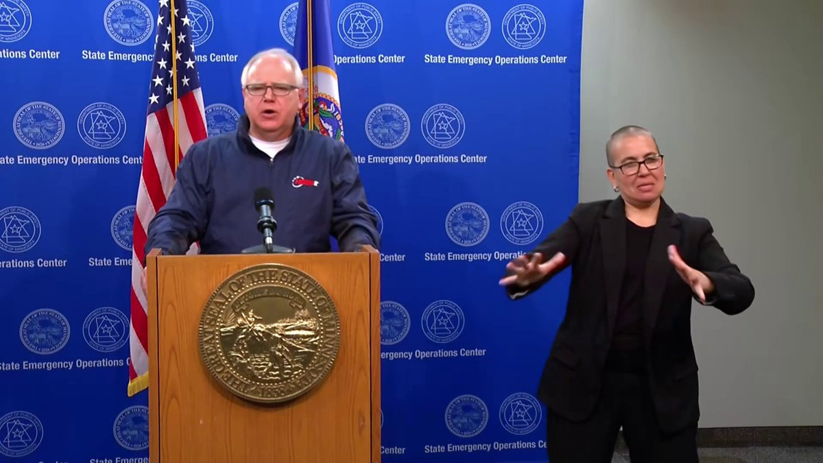 Minnesota Gov. Walz estimates that about 80% of those being destructive are from outside the state: Our heart and our solidarity are with folks who understand what happened Monday night to George Floyd ... But these folks are not them.
