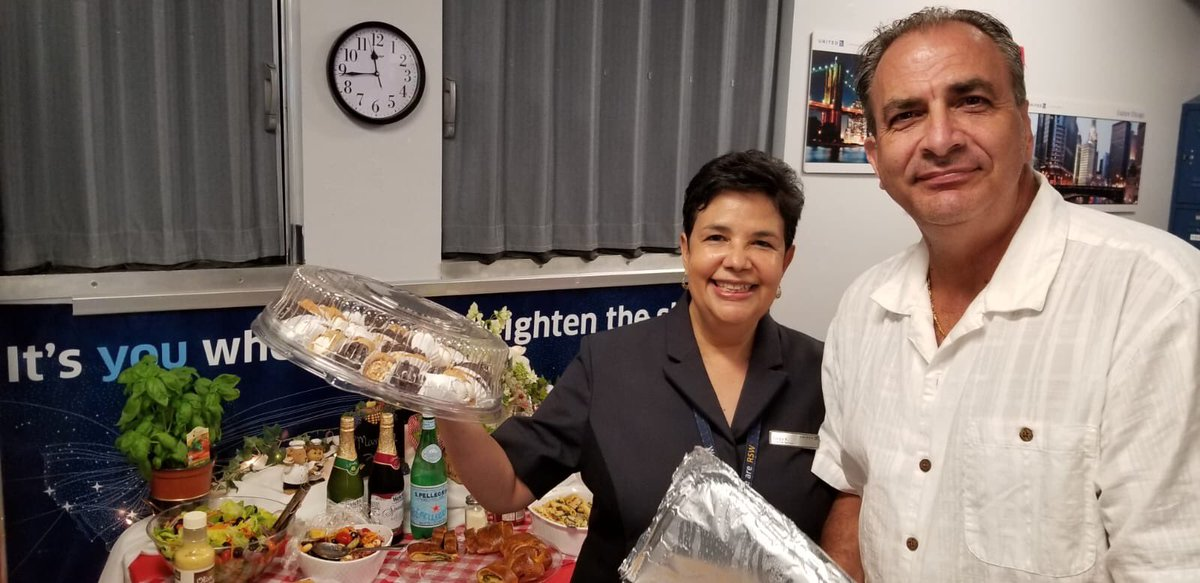 @weareunited @LouFarinaccio Cindy Rosa set up a beautiful Italian Pot Luck Festival day here in RSW. Best Italian food outside New York City. Nice job Cindy and those how made dishes of delicious food!