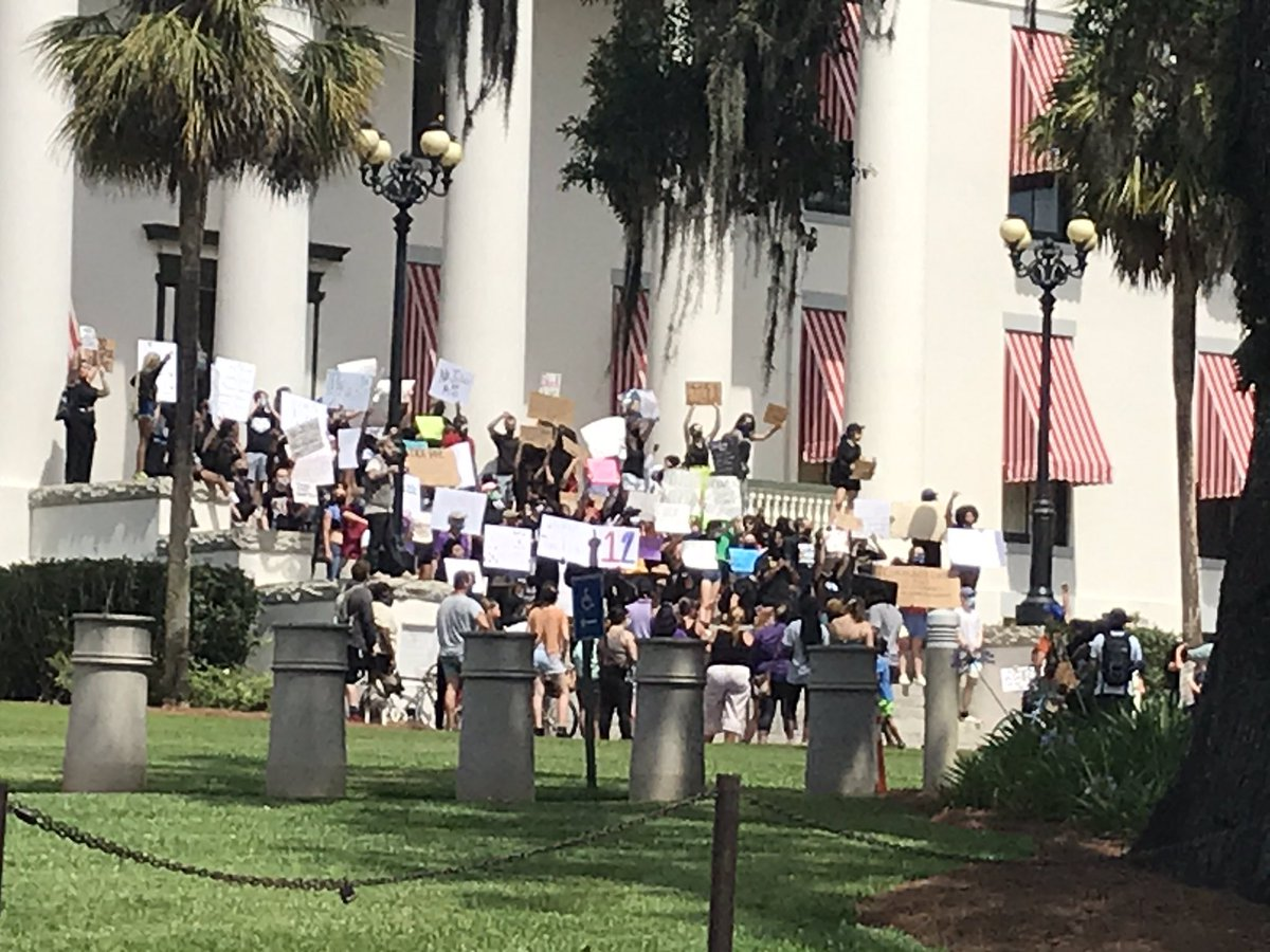 It's human demonstration time at the Florida Capitol.
