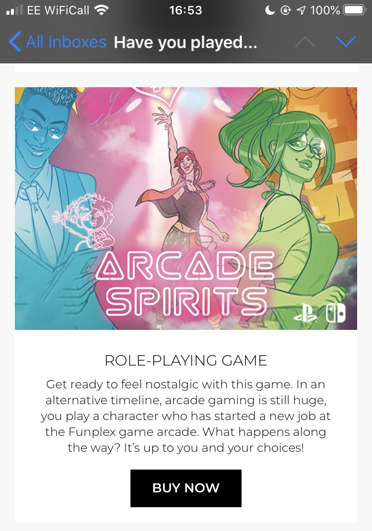 @Twoflower The UK's biggest physical game shop is now emailing me about you!!