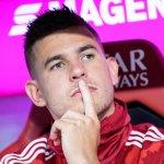 Image for the Tweet beginning: Bayern mit Hernández gegen Düsseldorf