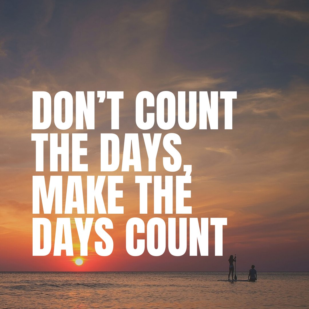 Don't Count the Days, Make the Days Count #USSLLC #motivation #love #inspirationalquotes #quoteoftheday #life #entrepreneur #inspire #successquotes #quote #goals #motivationalspeaker #mindset #instagood #business #lifequotes #positivevibes #lifestyle #motivate #motivationalquotepic.twitter.com/YcPmEzLCbs