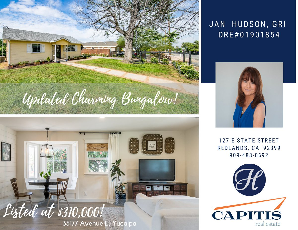Charming Bungalow in Yucaipa with a large lot!  This adorable property just hit the market!!  Call us to view: 909-488-0692  #forsale #houseforsale #househunting #homeforsale #realestate #realtor #bungalow #whosyourrealtor #househunters #clientsfirst #instagood #listingspic.twitter.com/bWqjmG9MkE