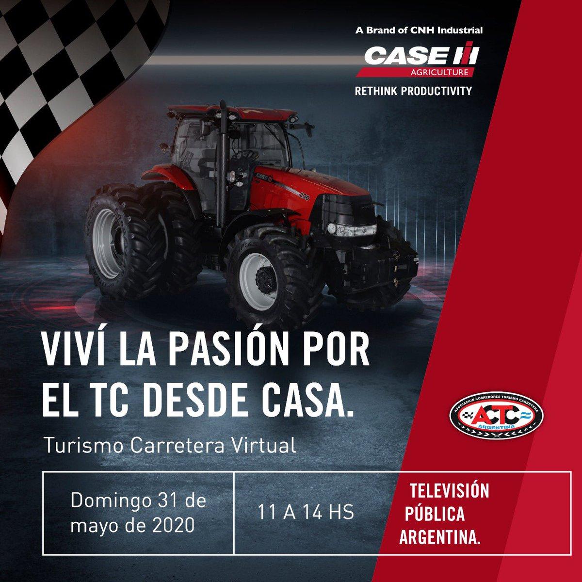 Mañana domingo a las 11 hs. encendé la televisión y mirá por la @tv_publica una nueva fecha de #TCEnCasa. @actcargentina. #CaseIH #QuedateEnCasa #YoMeQuedoEnCasa https://t.co/Q4RqpzR8tF