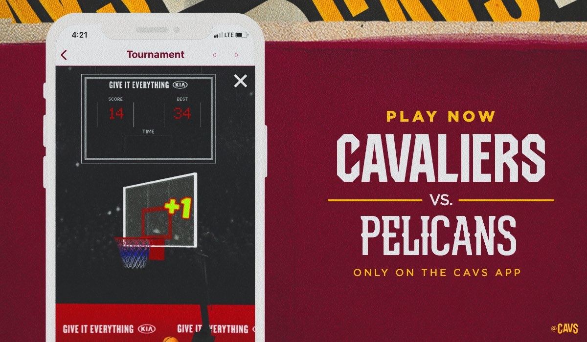 We've got another Shot Clock Challenge today against the leading @PelicansNBA!  Shoot for your highest score and help us get the win!  📲: https://t.co/k9pBSedmhv https://t.co/yEynlHApVh