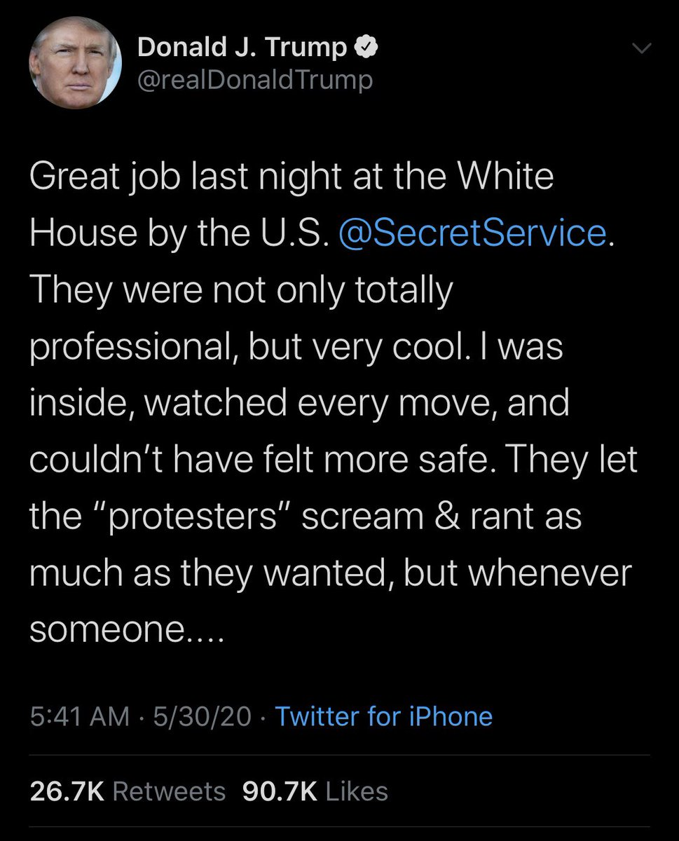 "#NEW: Pres. Trump responds to protests outside WH Friday, praising Secret Service for their handling of the situation.  Claims crowd was ""professionally organized"" & slams D.C. Mayor Muriel Bowser for ""always looking for money and help"" & not letting D.C. police ""get involved."" pic.twitter.com/wjcNVnAcPV"
