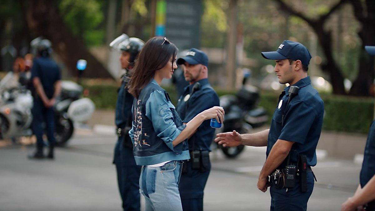 where's Kendall Jenner with a Pepsi when we need her?