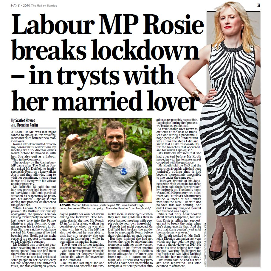 EXC: Labour whip Rosie Duffield quits over lockdown lover...