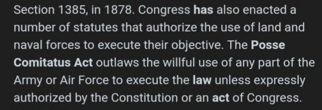 You will have a fight on your hands. I'll just leave this here: Posse Comitatus Act #TrumpResignNow #GeorgeFloyd