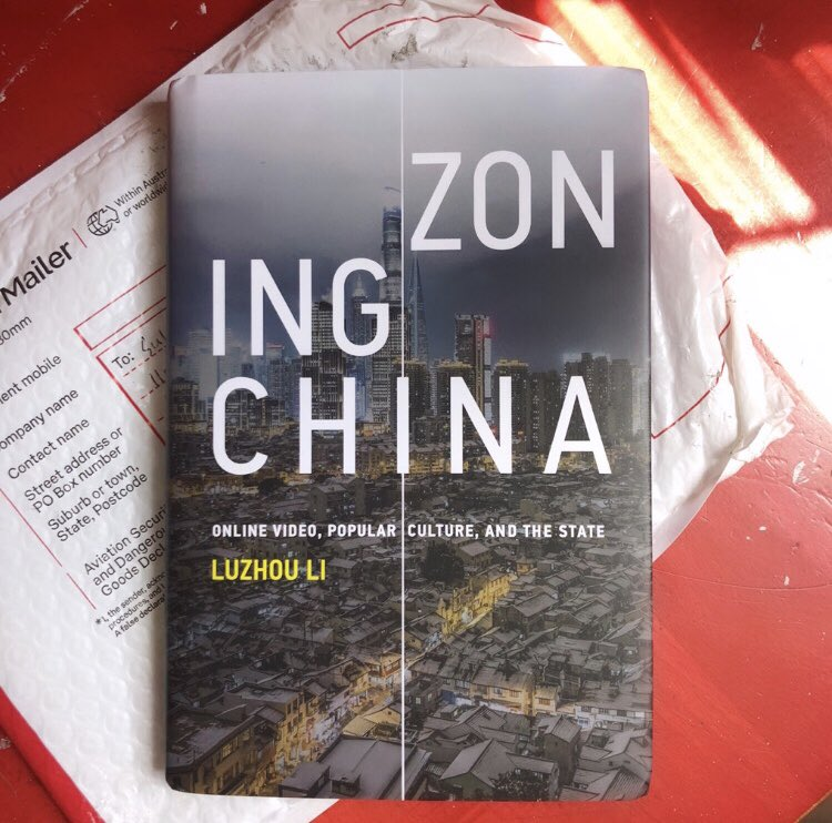 Arrived at my door today all the way from Australia. I can't wait to read this and feature it my Internet culture class this fall! #ZoningChina @mitpress, thank you so much @LuzhouLi