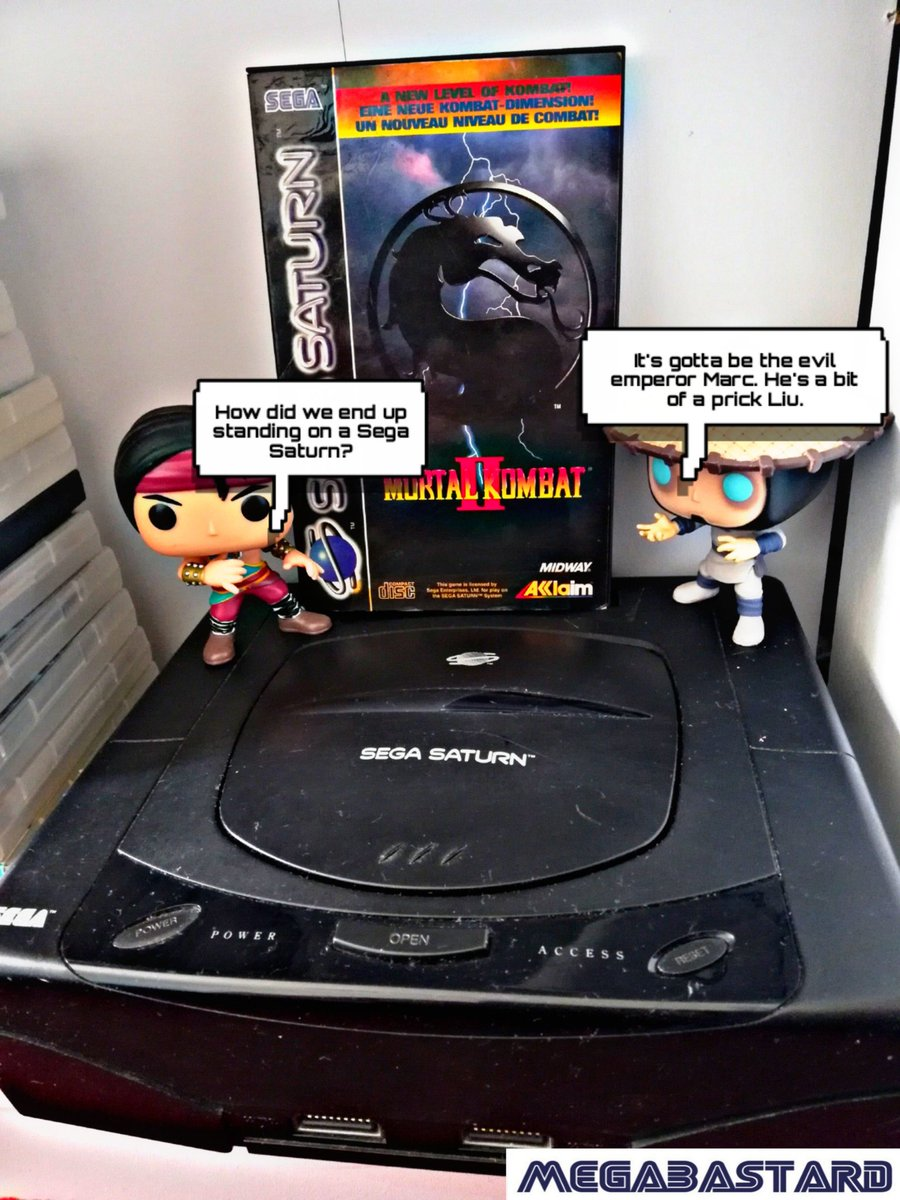 Late #SegaSaturday as I've been busy gaming and work stuff. Mortal Kombat 2 for the Saturn. Not the best port at all but still worth ago especially if you see it around for a good price. #SaturnDay https://t.co/jajcYXXzfr