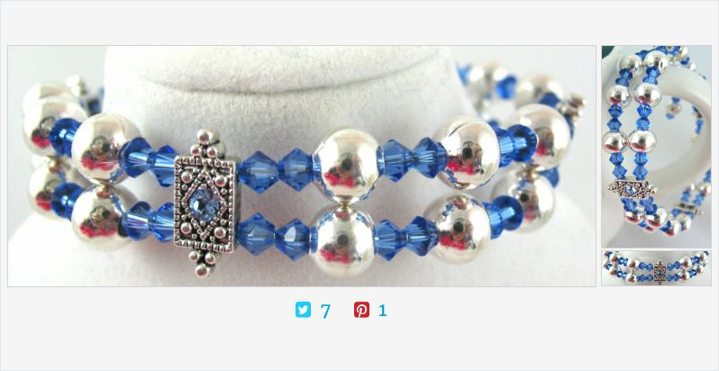 There is so much sparkle these #blue #swarovskicrystals #stack #bracelet | @JazzitupwithDes   (Tweeted via )