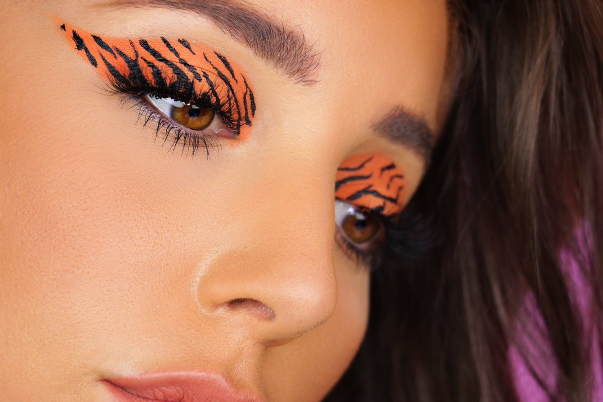 New #makeuptutorial https://youtu.be/tdbmEXK8qws  #animalprint #TigerKing #makeuptrend2020 #tigermakeuppic.twitter.com/DLwj5Kt6xG
