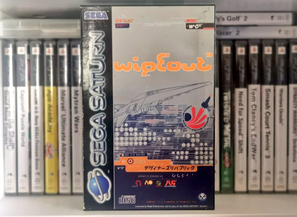 I haven't done a #SegaSaturday/#SaturnDay in a while, so here's Wipeout! This version has been majorly eclipsed by the PS1 release, but I think it's pretty good on Sega too. https://t.co/jni6lpSK0Y