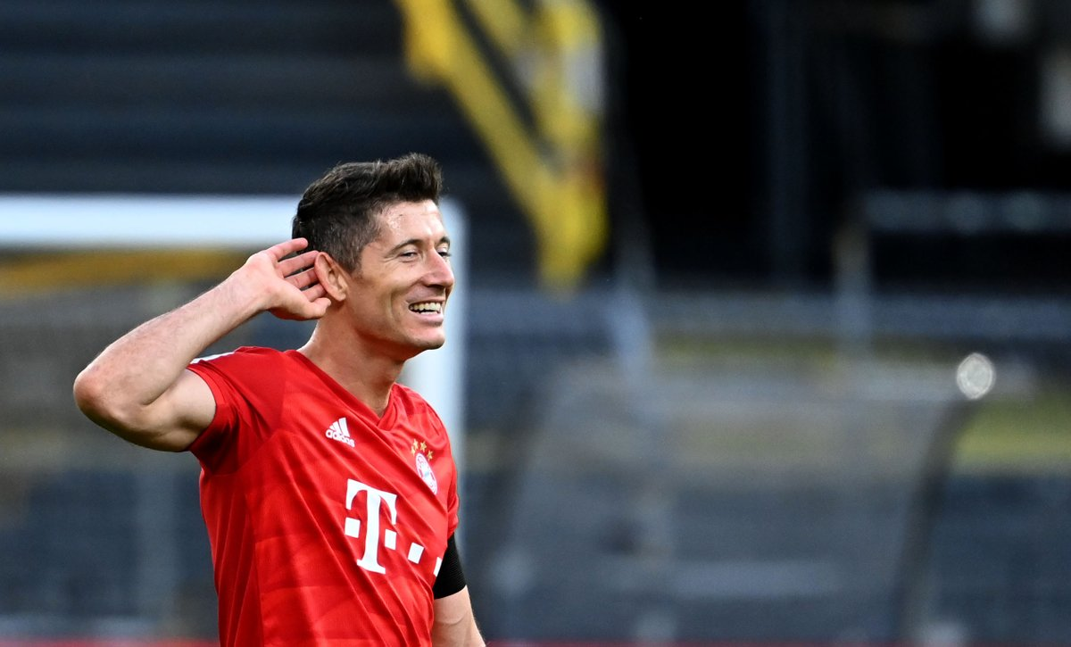 1 - Robert Lewandowski is now the outright top goalscorer across Europe's top five leagues in 2019-20; 28 – Robert Lewandowski 27 – Ciro Immobile 24 – Timo Werner 21 - Cristiano Ronaldo 19 – Jamie Vardy 19 – Lionel Messi Relentless.