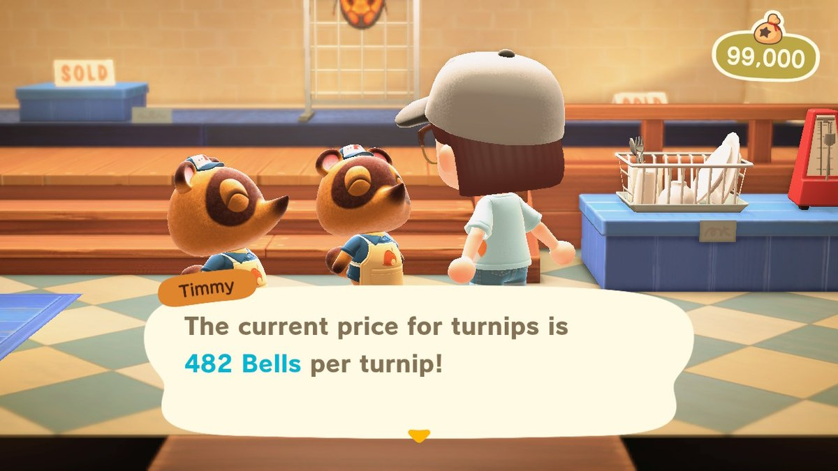 My island is open! Come and sell your turnips, my price is currently 482. No fee.   Join the queue for my dodo code:   #turnips #AnimalCrossing