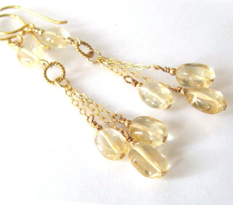 Citrine Gemstone Long Earrings, Goldfilled, Dangling Golden Drops November Birthstone, 17th Anniversary, Ear Wire Options https://etsy.me/2quriVW #giftforwomen #jetteampic.twitter.com/n5Up0vUqjh