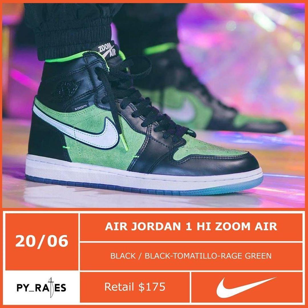 """Date de sortie de la Air Jordan 1 High Zoom """"Rage Green"""" #jordan #jordan13 #flint #snekaerhead #hypebeast #fashion #lifestyle #sneaker #basketball #nikesportswearpic.twitter.com/gb1FAkAC3Y"""