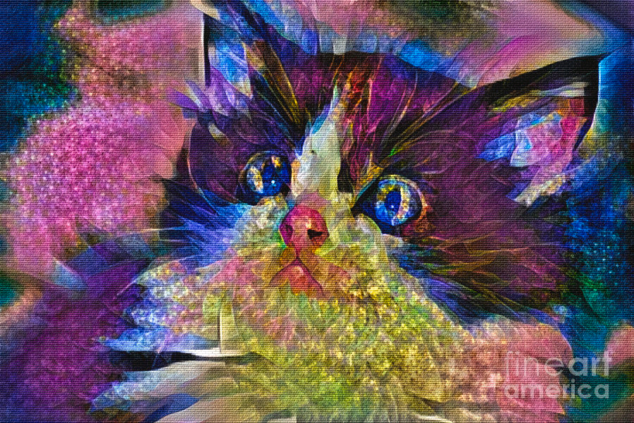#Colorful #Kitten #Art 2 by Kaye Menner #prints #products at