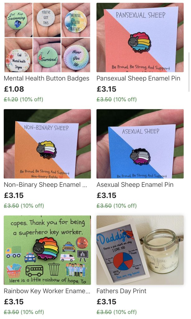 I've still got my 10% off sale happening ❤️🌈 etsy.com/uk/shop/ASplas…