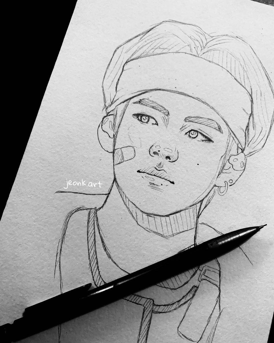 Dejo esto por aquí, sigan mi Instagram donde subo mis dibujos y pinturas, se los voy a agradecer mucho! http://instagram.com/jeonk.art   #taehyung #bts #art #taehyungart #taetae #mydrawing #kimtaehyung #bangtan #army @BTS_twt @BigHitEntpic.twitter.com/UXd0wWdQw5