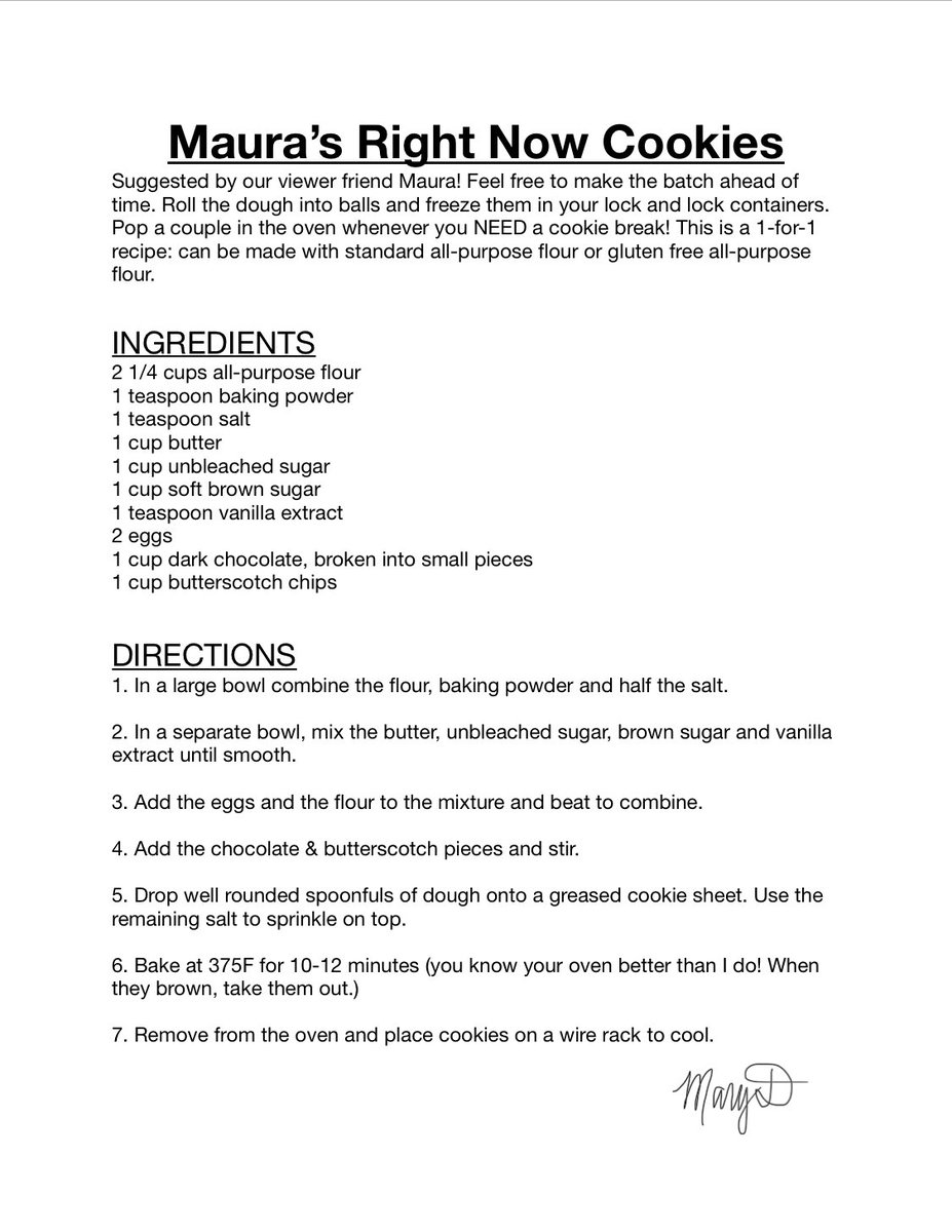 Chocolate Butterscotch Chip cookies for Maura! Here's the recipe we made today on our livestream together. Thank you for the suggestion, Maura and hope you enjoy! Feel free to make them your own  #ITKWM #recipe #nationalchocolatechipday <br>http://pic.twitter.com/lYIKH8Wmwq